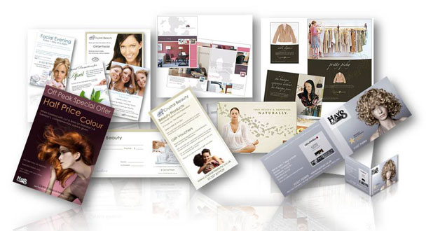 Some of the many leaflets, business cards and flyers that Pivotal Marketing have created